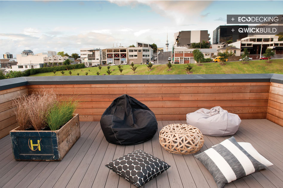 Rooftop Deck With Use Of Eco Decking And Qwickbuild