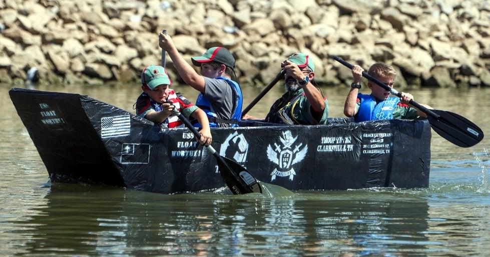 Trail Life Troop Designs and Builds Winning Boat in Riverfest Regatta