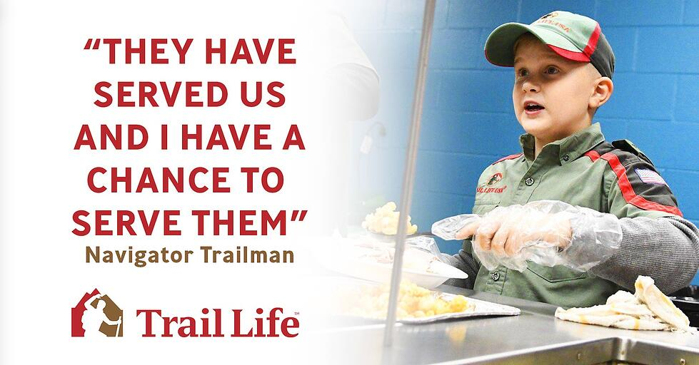Operation Walk Worthy: Troop KY-5812 Serve Dinner to 100 Vets