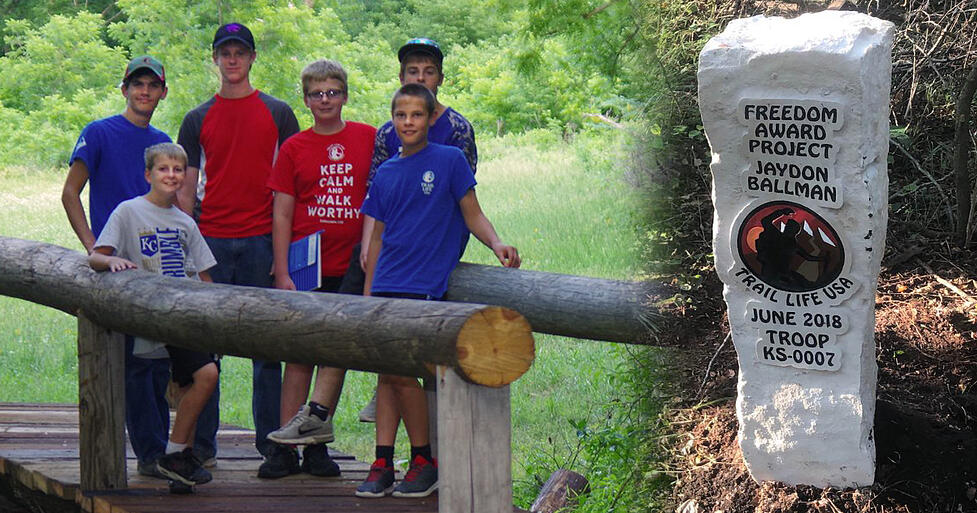 TRAILMAN LEADS EFFORT TO CONSTRUCT BRIDGE AT HISTORIC PARK
