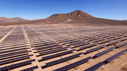 solar panel plant in desert