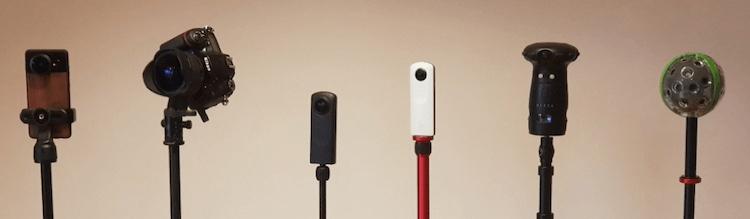 Cámara 360 y cámara incluyendo la solución Nodalview