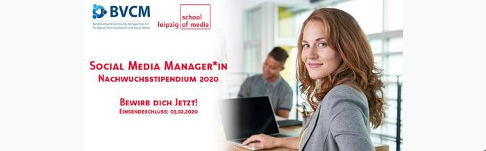 Social Media Nachwuchsstipendium 2020 - Jetzt bewerben!