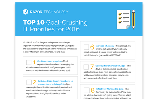 Top 10 Goal-Crushing IT Priorities for 2016