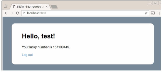 Mongoose Embedded Web Server Cookie Auth2