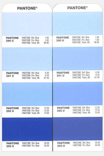 Pantone Coated and Uncoated chips