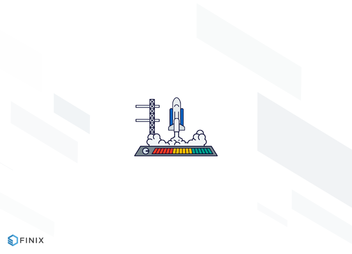 Rocket ship preparing to begin launch graphic