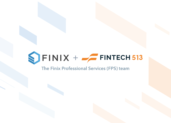 Logos showing Fintech 513 merging with Finix