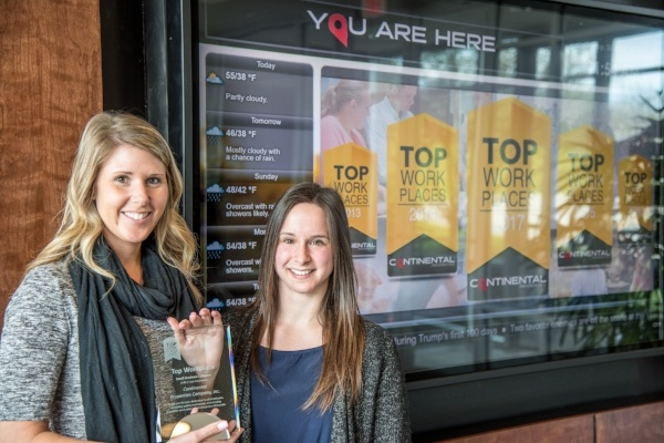 Continental Properties Named 2017 Top Workplace