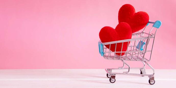 Liebe geht durch den Handel: startklar zum Valentinstag