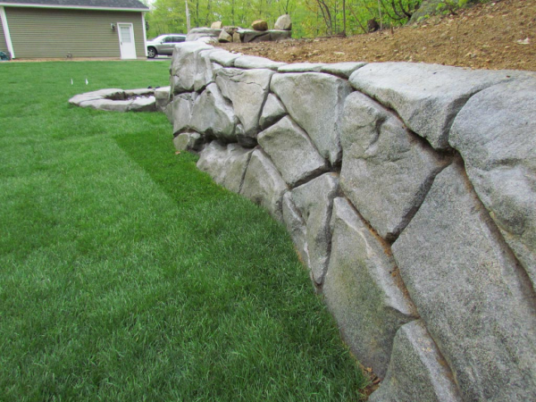 how to build a stonemakers retaining wall from design to finish - Concrete Retaining Wall Design Example