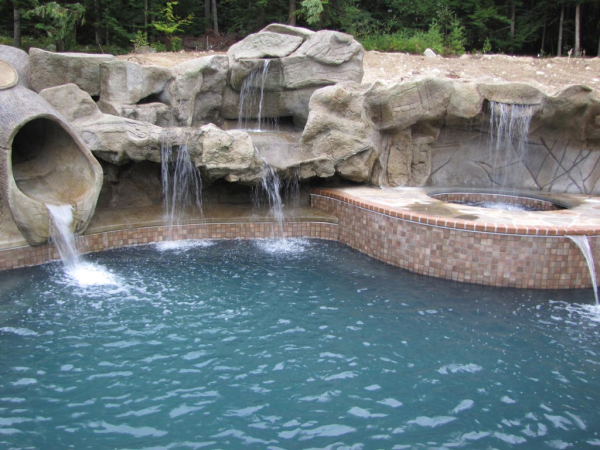 Swimming Pool Waterfall Designs swimming pool with waterfalls about swimming pool designs Swimming Pool Waterfalls