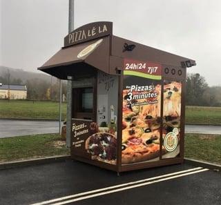 moderniser sa pizzeria grace à la foodtech Pizza Lé la 2020 Kiosque gauche