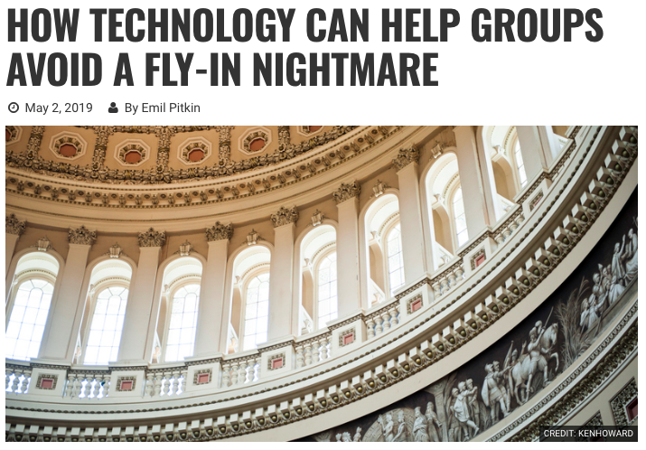 GovPredict's Emil Pitkin in Campaigns & Elections: How Tech Can Help Avoid DC Fly-In Nightmares
