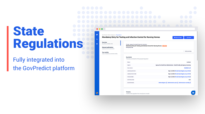 State Regulations Added to GovPredict Government Affairs Platform