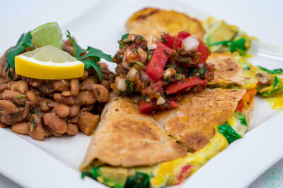 VLoaded-Gooey Avocado Plant-Based Quesadillas