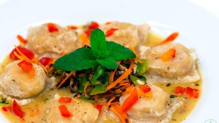 Vegan Mushroom Butternut Ravioli with Cheesy Sage Mint Sauce