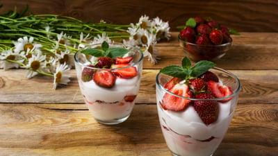 VFresh Strawberries & Vegan Whipped Cream