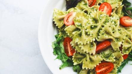 Avocado Kale Spinach Pesto Farfalle Salad