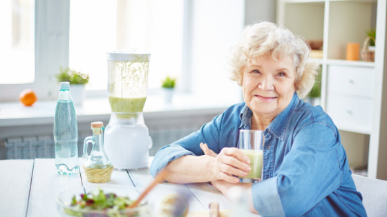 Changing Bodies, Changing Habits elderly woman eating healthy