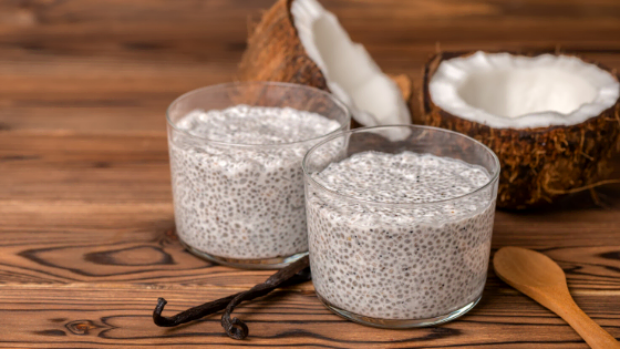Easy Vegan Coconut Chia Pudding Vanilla