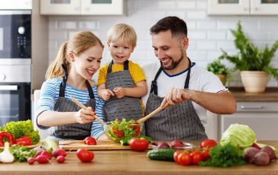 Healthy Happy Family with Child