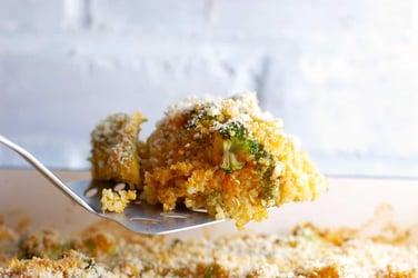 Vegan Cheesy Quinoa Broccoli Casserole