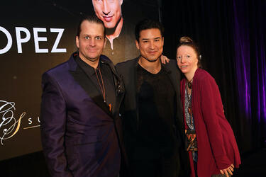 Thane and Cynthia Murphy Assuaged Founders at City Summit City Gala by Global Unity Foundation with american actor and entertainment journalist Mario Lopez
