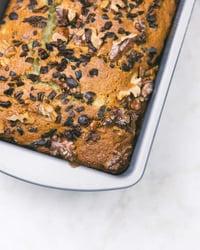 Vegan Zucchini Bread with Almond Flour in Pan