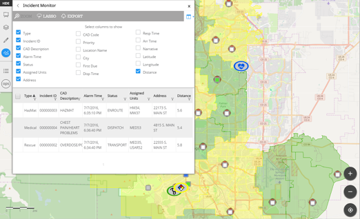 Incident Mapping Tool Screenshot