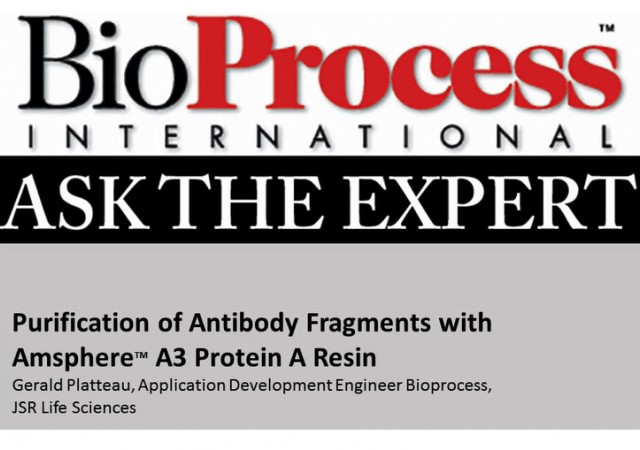 Webcast on the purification of antibody fragments