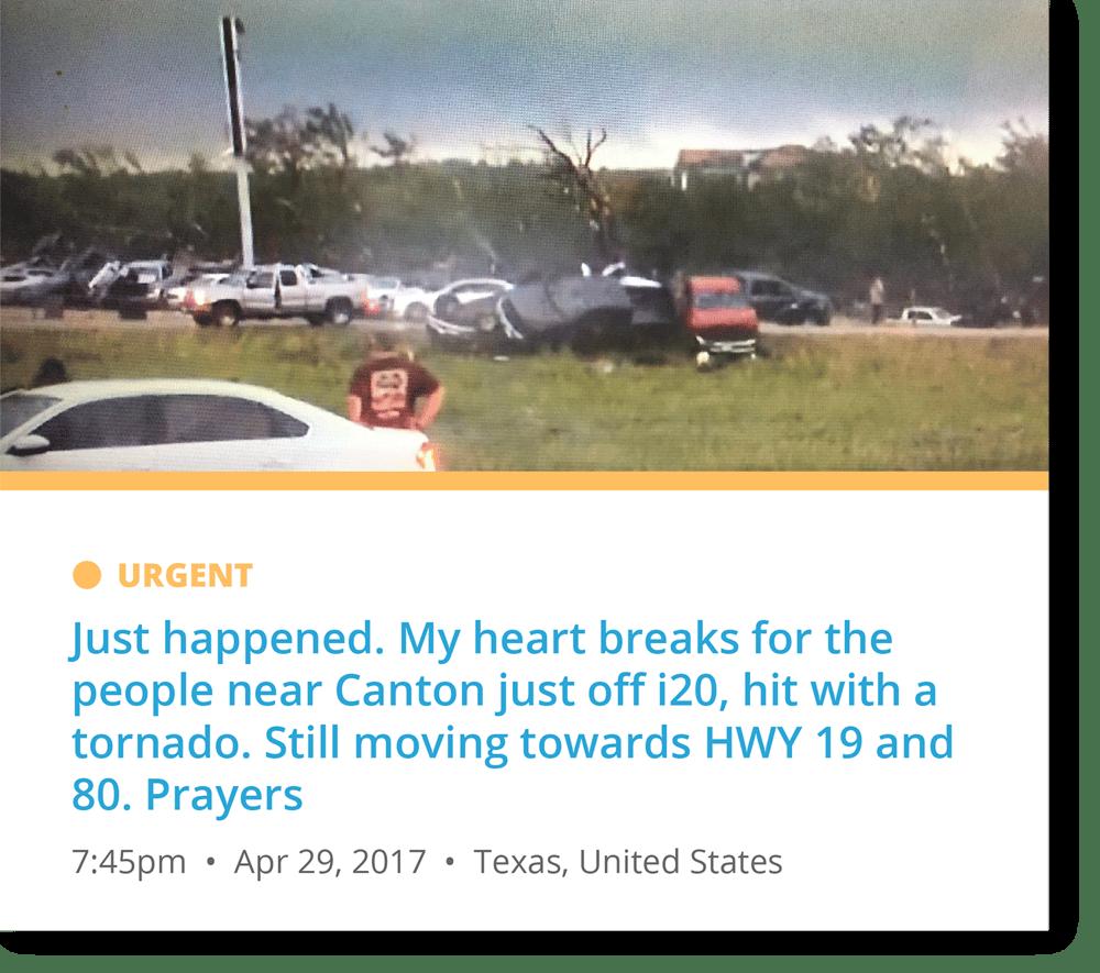 HWY19 tornado alert