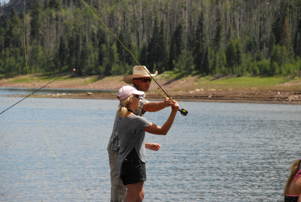 dude ranch vacation, fly fishing, fishing, fun, activities