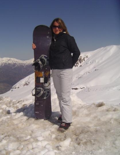 Karen teaching English in Chile