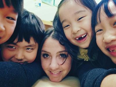 Laura teaching English in Seoul, South Korea