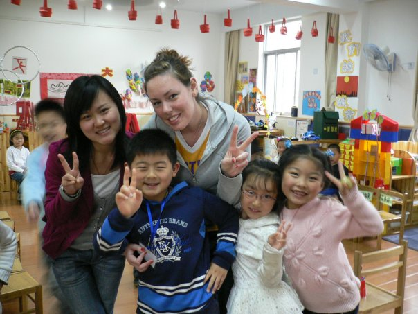 ITA Advisor Paige Lee with her students in China TEFL