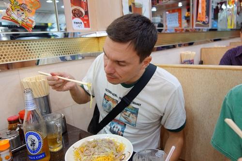 ITA Alumni Armand Eating Noodles HongKong