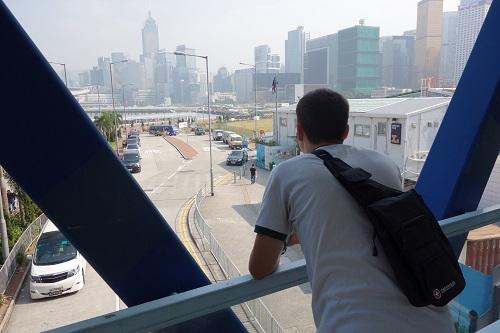 Armand  Diab Overlooking HongKong Traffic