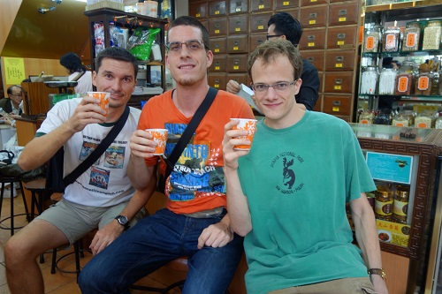 Armand Diab Enjoying Immunity Boosting Tea Hong Kong
