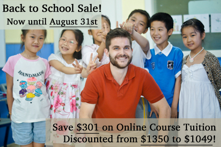 Save $301 off Online TEFL Classes - Enroll by August 31, 2014