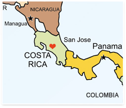 Teaching English in Costa Rica - Map