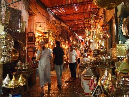 teach english Morocco Marrakech Medina Souk