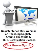 Register for a free Webinar on teaching English Abroad