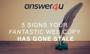 5 Signs Your Fantastic Web Copy Has Gone Stale