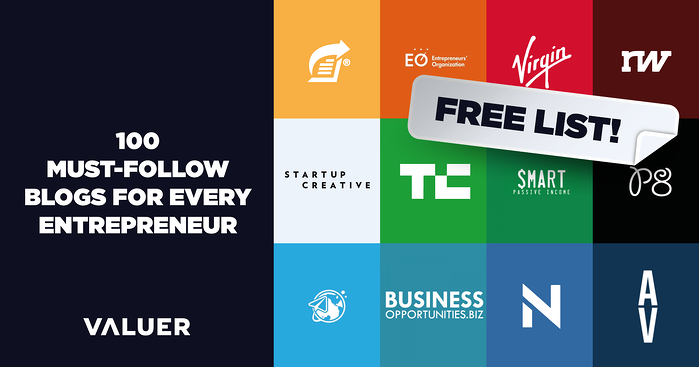 100 Must-Follow Blogs for Every Entrepreneur