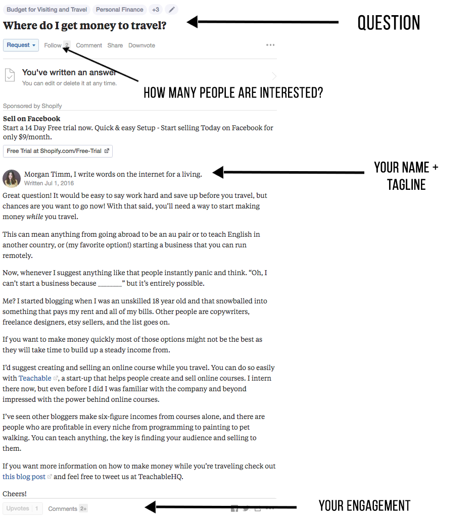 Quora Is A Site That Allows Itu0027s Users To Ask And Answer Questions And A  Platform