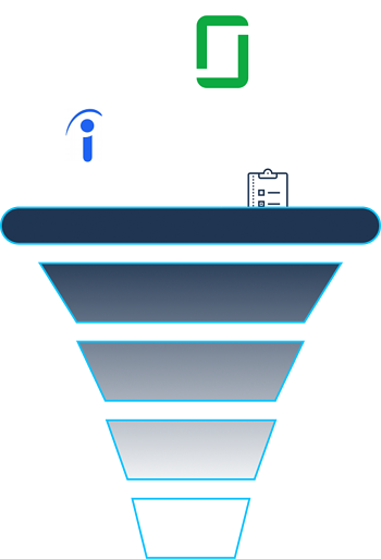 graphic funnel for employee reviews