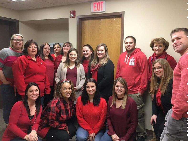 Harmony Goes Red for National Wear Red Day 2019!