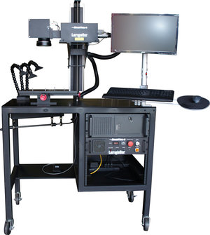 steered beam fiber laser marking system