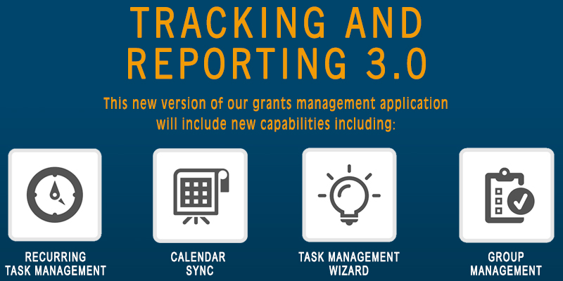 Grants management system, Grants Network: Tracking & Reporting 3.0 product launch